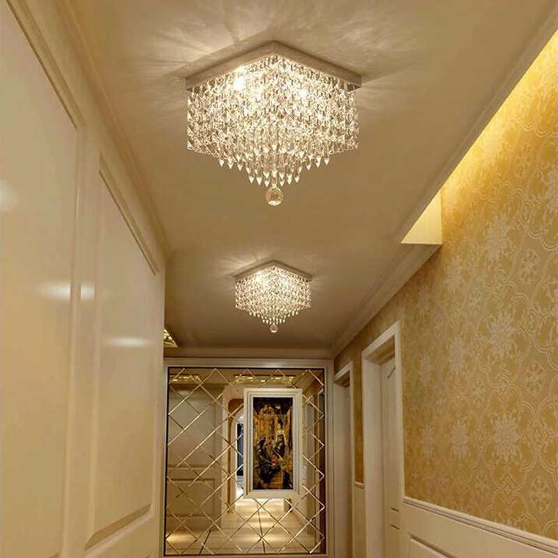 Persegi Kristal Lampu Gantung LED Lampu LED Lampu Gantung Restoran Lorong Daya Tinggi Lampu Gantung LED Light