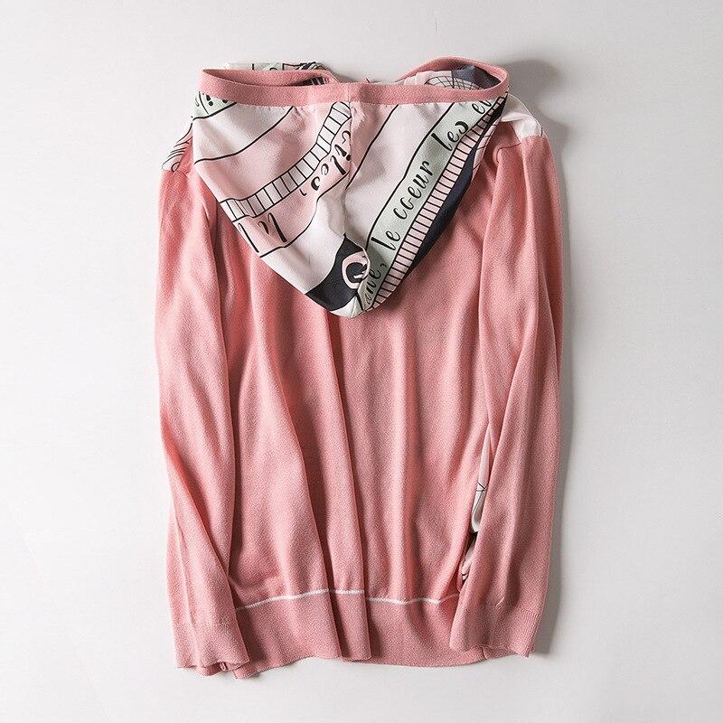 في ربيع عام 2019 الملابس النسائية الجديدة الجملة مقنعين رسم سلسلة إلى القوس المطبوعة الحرير سترة مشغولة من الصوف-في بلوزات وقمصان من ملابس نسائية على  مجموعة 2