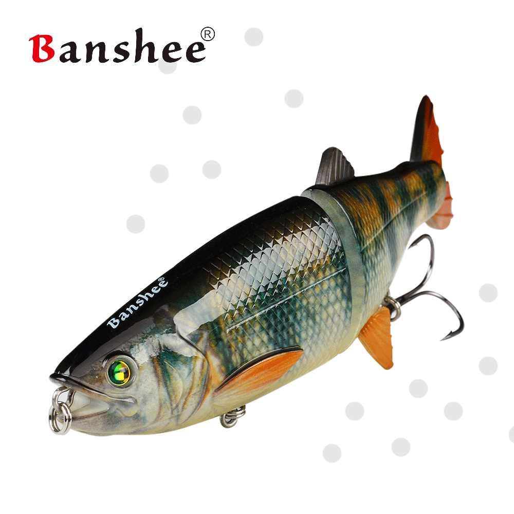 Banshee 200mm 90g 2 secciones AT01 multi articulado vida como pesca señuelo trucha cebo artificial duro para el lucio del atún Bass Swimbait