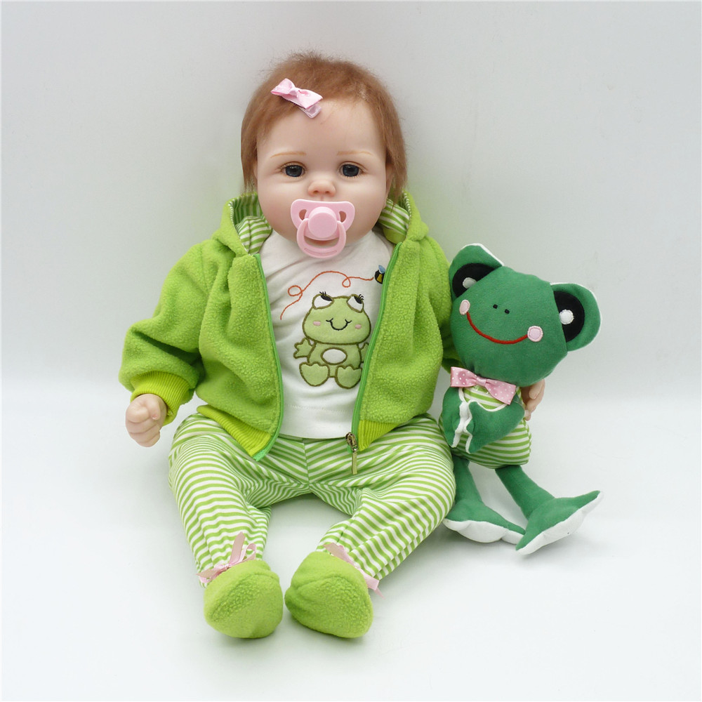 22 inch 55 cm green clothing super cute baby boy girl holiday gift Christmas gift