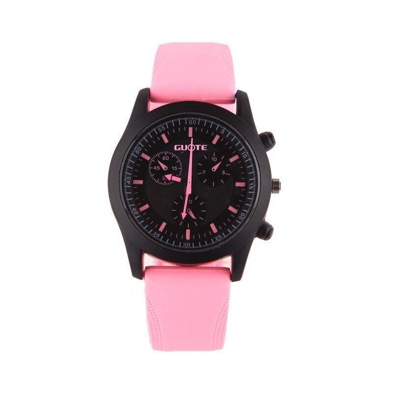 Новая Мода Спорт Случайные Часы Мужчины Женщины Чистый Цвет Желе Силиконовые Часы Студенты Элегантные Наручные Часы Часы Кварцевые Часы