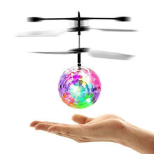 Flying Luminous Ball RC Kid's Flying Ball Anti-stress Drone Helicopter Infrared Induction Aircraft Remote Control Toys Gifts funny flying fairy dolls toy infrared induction control flying angel dolls for girls remote control flying electronic toys kids