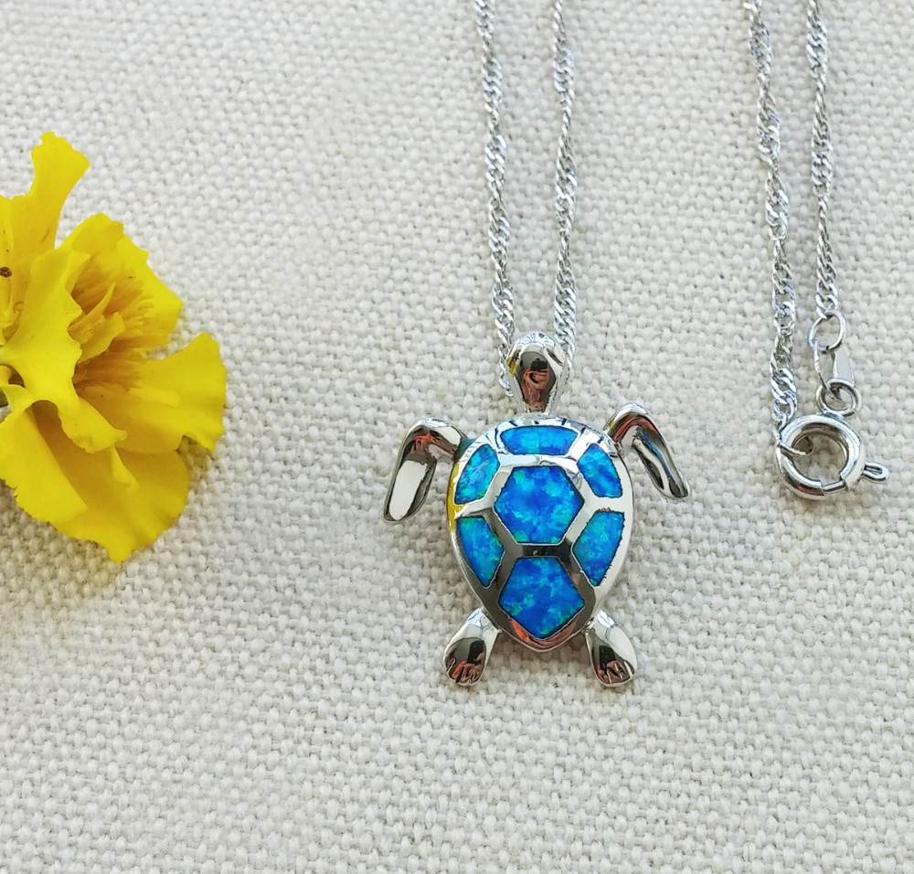 sea-turtle-blue-fire-opal-pendant-necklace 3