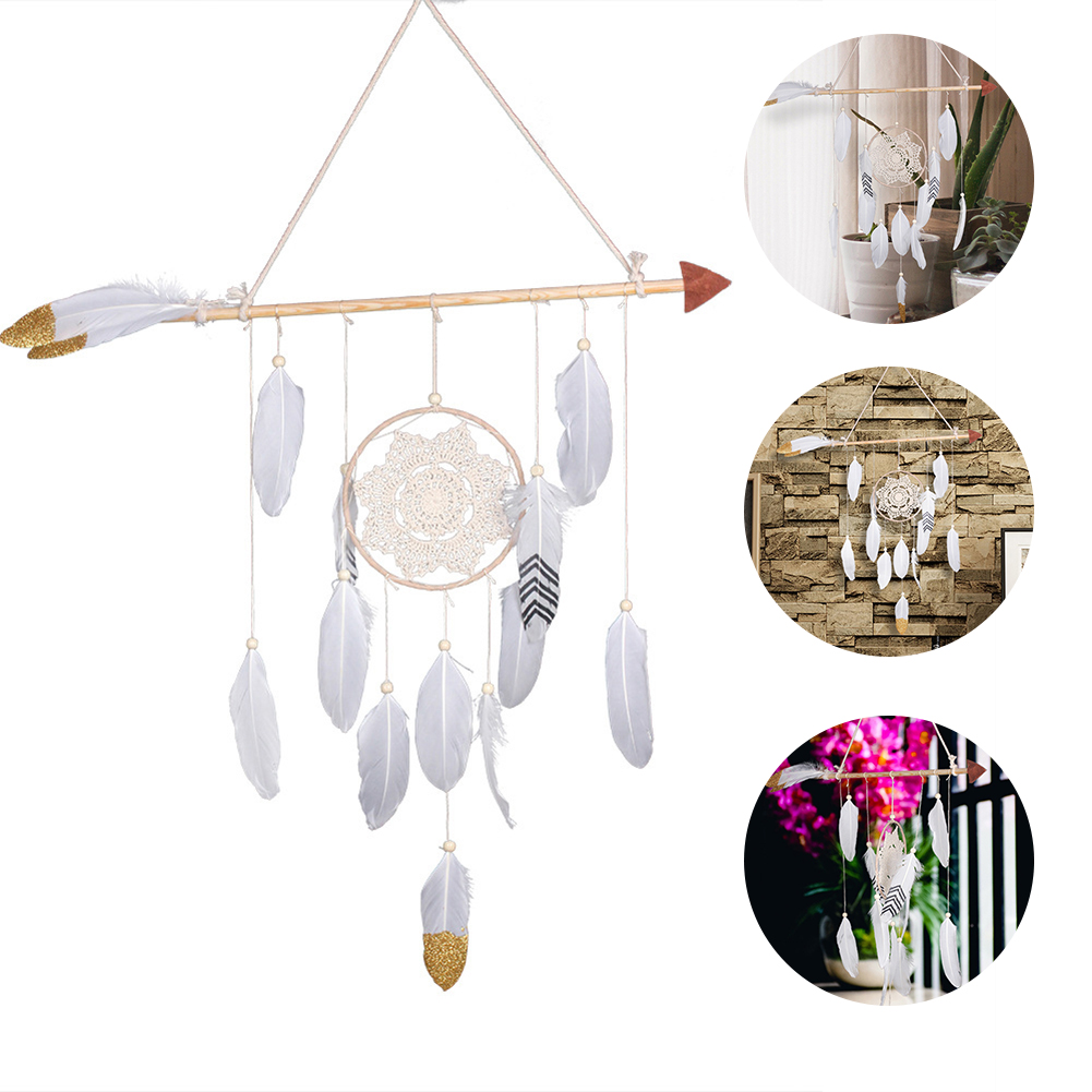 ⃝ 1pc Hanging Hand Crafts Wind Chimes Dream Catcher with