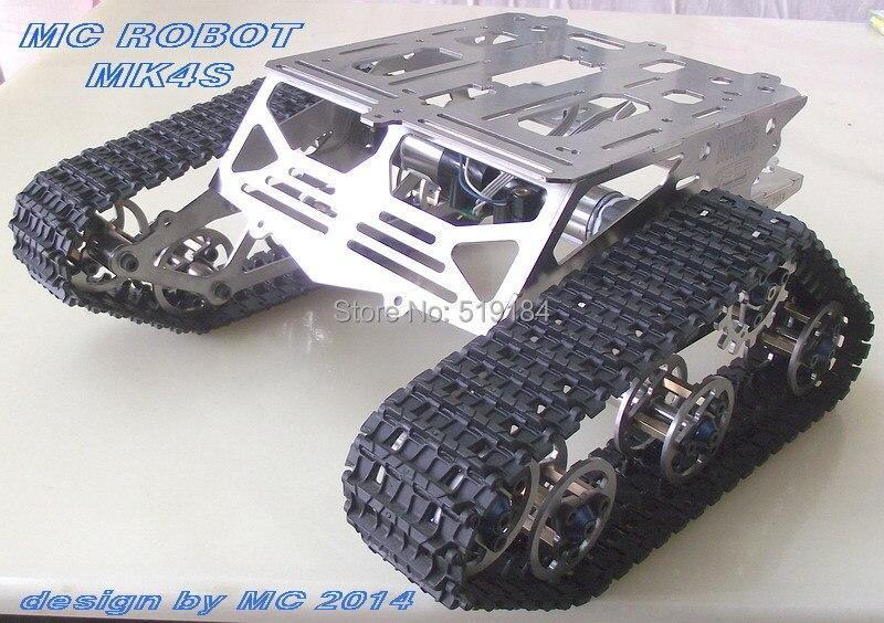 Metal robot chassis crawler robot crawler chassis tank chassis mk4s 261 tank chassis intelligent car crawler chassis crawler vehicle tank vehicle tank robot metal motor