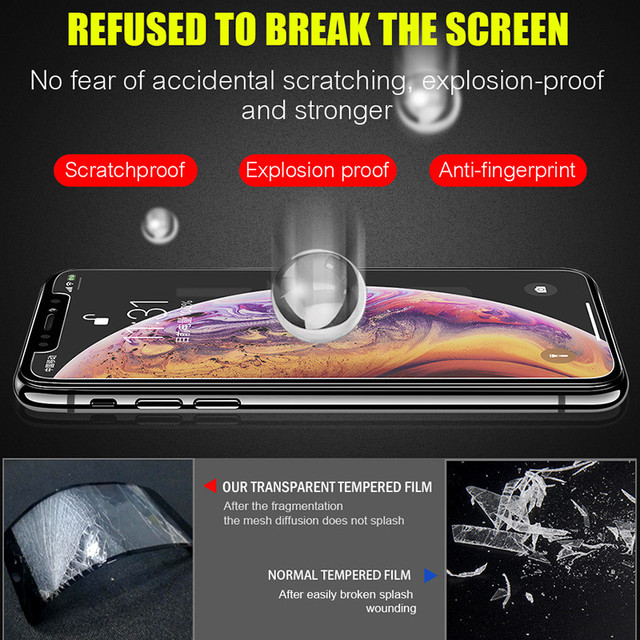 9H Tempered Glass For iPhone XS Max XR X 5c 5s 5se 4 4s Tough Protection Screen Protector Guard Film For iPhone X 10 6s 7 8 plus