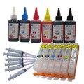 PGI 570 CLI 571 nachfülltinte kit Für CANON pixma MG7750 MG7751 7752 7753 TS8050 TS9050 drucker + 6 Farbe Dye-tinte 100 ml