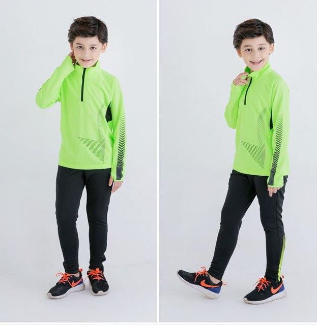 Combinaison de Football pour enfants, automne hiver, survêtement de course pour enfants, ensemble de Football, veste longue, pantalon de jambe maigre, combinaison dentraînement de Football, Kits de vêtements sportifs