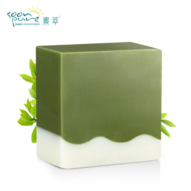 SOONPURE Matcha Blackhead Remover Facial Soap Cleanser Acne Treatment Facial Cleanser Whitening Extractor Skin Care Face