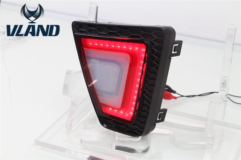 ФОТО 12W New LED TailLights Column Lamp for Hondas Fit 2014 2015 Auto Rear-end Tail Lights Rear Warning Light