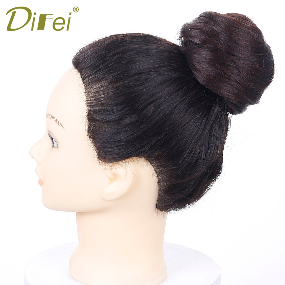 Hair Extensions & Wigs Synthetic Extensions Jeedou Synthetic Hair Chignon 60g Curly Hair Bun Pad Rubber Band Chignon Chic And Trendy Hottest Hair Trends Hairpieces