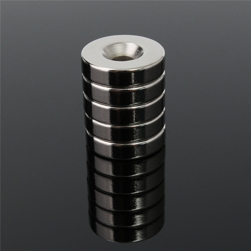 5pcs/lot 20 x 5mm N50 Hole 5mm Strong Round Magnets Rare Earth Neodymium Magnets 20 x 5mm Powerful Countersunk Magnet Hot Sale diy 5mm round neodymium magnets purple 216 pcs