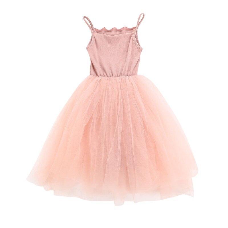 Kids Girls 2018 New Dress Summer Sleeveless Girls Mesh Dress Casual Harness Ball Gown Wedding Party Princess Tutu Dresses kids girls party dress 2018 summer new