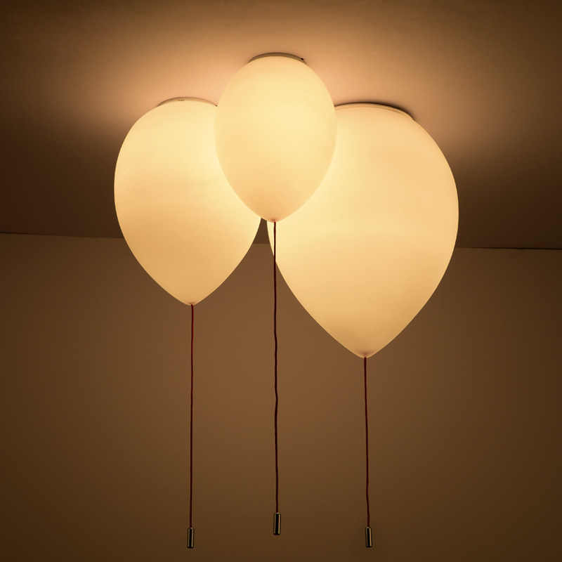 Post modern Metal Electroplating balloon Warm Romantic Children's Room White Living room Bedroom Restaurant Simple Chandelier