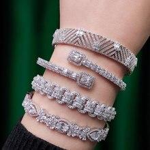 Bangle-Cuff Dubai Bracelet Crystal GODKI Wedding Trendy Full-Cubic-Zircon Women Luxury