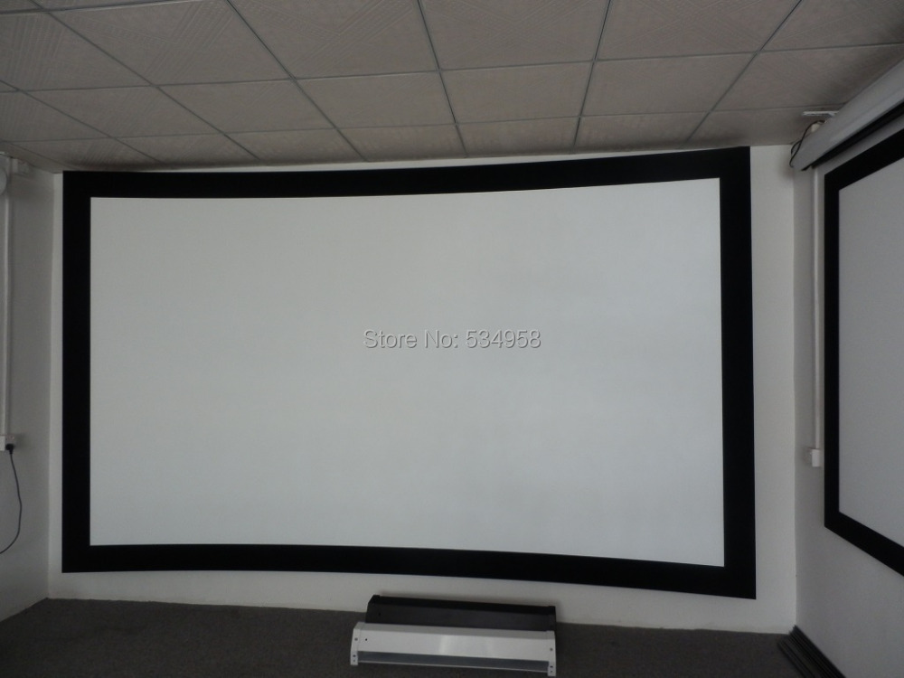 Aliexpress.com : Buy 110 Inch Curved Frame Projector Screen/Curved ...