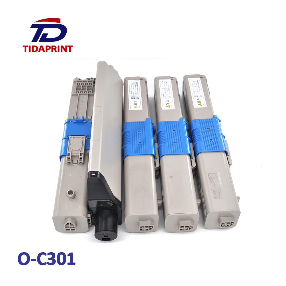 TIDAPRINT Remanufactured Toner Cartridges 44973533 44973534 44973535 44973536 for oki c301dn  4 PCS 1 Lot ( BK C M Y)