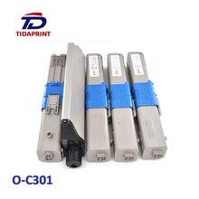 цена на TIDAPRINT Remanufactured Toner Cartridges 44973533 44973534 44973535 44973536 for oki c301dn  4 PCS 1 Lot ( BK C M Y)