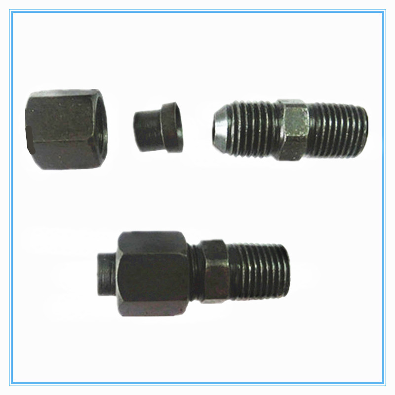 hydraulic tubing joints, joint expansion joints 10mm-1/8 1/4 <font><b>3/8</b></font> <font><b>1/2</b></font> <font><b>male</b></font> thread Pipe Fitting image