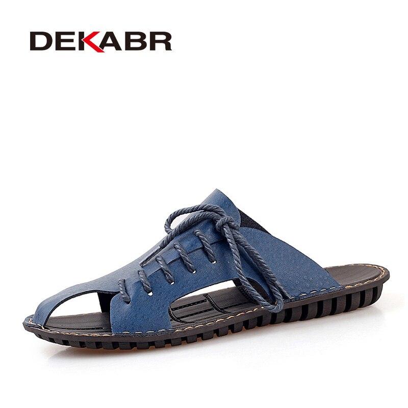 Gut Dekabr 2019 Casual Walking Strand Flip-flops Casual Männer Schuhe Sommer Mode Strand Hausschuhe Sapatos Hembre Sapatenis Masculino Modernes Design Männer Sandalen