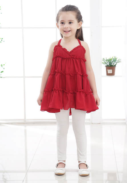 39bf77f9a6 Cute Baby Girls Party Tutu Strap Cotton Linen Organic Green Red Yellow Dress  Baby Kids Cloth