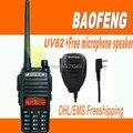 DHL Freeship + Baofeng uv82 UV 82 Walkie-Talkie Pofung UV-82 5 W 128CH VHF amador de Rádio FM + UHF VOX Dual Band 2 Way Radio + microphon
