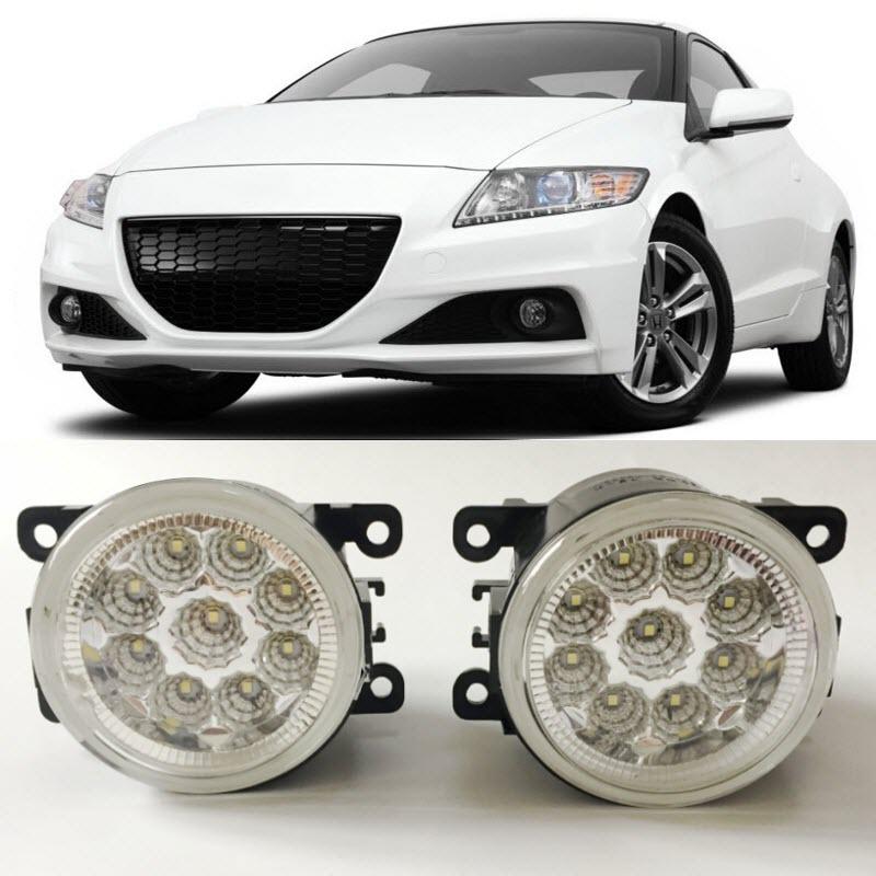 все цены на Car-Styling For Honda CR-Z 2013 2014 2015 9-Pieces Leds Chips LED Fog Light Lamp H11 H8 12V 55W Halogen Fog Lights в интернете