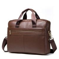 Men's Business Briefcase,genuine Leather laptop bags for men