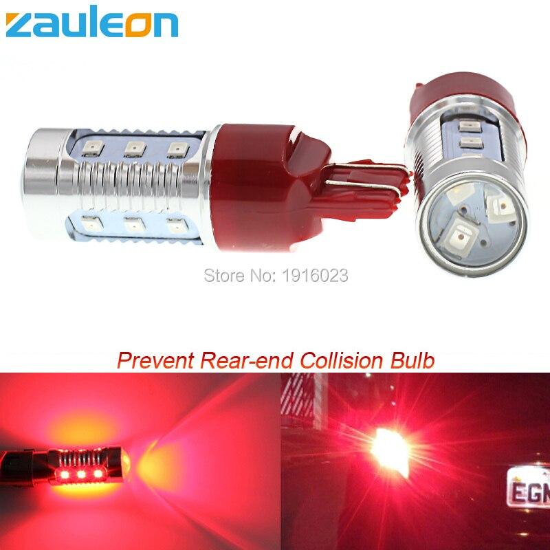 2шт T20 7443 в w21 Zauleon/5Вт Красный светодиод мигает Строб мигающий задний безопасности предупреждение хвост тормоза стоп-огни автомобиля автомобиль-стайлинг