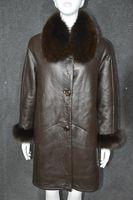 Clearance Luxury woman's winter genuine leather fox fur coat sheepskin wool shearing jacket clothing female formal outwear