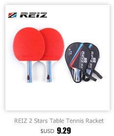 75a82a694 REIZ 1 Estrela Ténis de Mesa Raquete Ping Pong Paddle Curto Ou Longo Handle  Raquete De Tênis De Mesa de Treinamento Com Caso