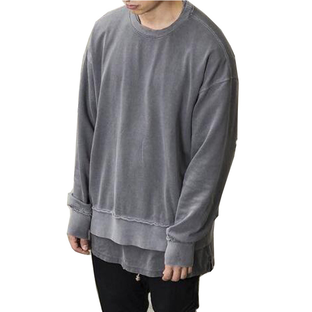 high quality 2018 new design green pure Cotton Sweatshirts men fashion Hip  Hop sweatshirts casual Loose Oversized Hoodie daf736730