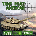 ET Vía Control Remoto RC Tanque de Batalla 99803 1/28 27 Mhz Infrarrojos Cañones y Emmagee fort rotar tanque de control remoto Tank Fighting