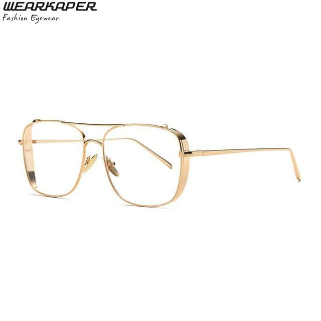110e55332 Gafas de sol de media montura cuadradas Retro de lujo de diseñador de marca  francesa para