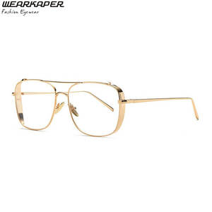 62d7c78100f WEARKAPER Retro Square Men Clear Lens Women Sunglasses