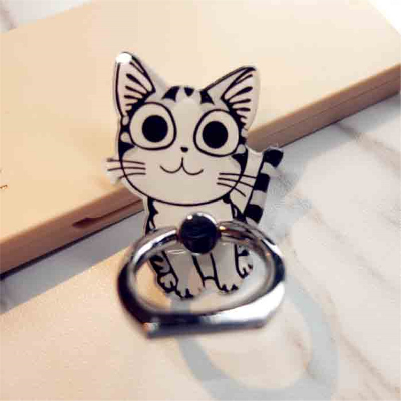 Cartoon Cat Finger Ring  Mobile Phone Holder Stand For IPhone 4 5 SE Samsung S8 Xiaomi Mi5 Smartphone Holder Stand