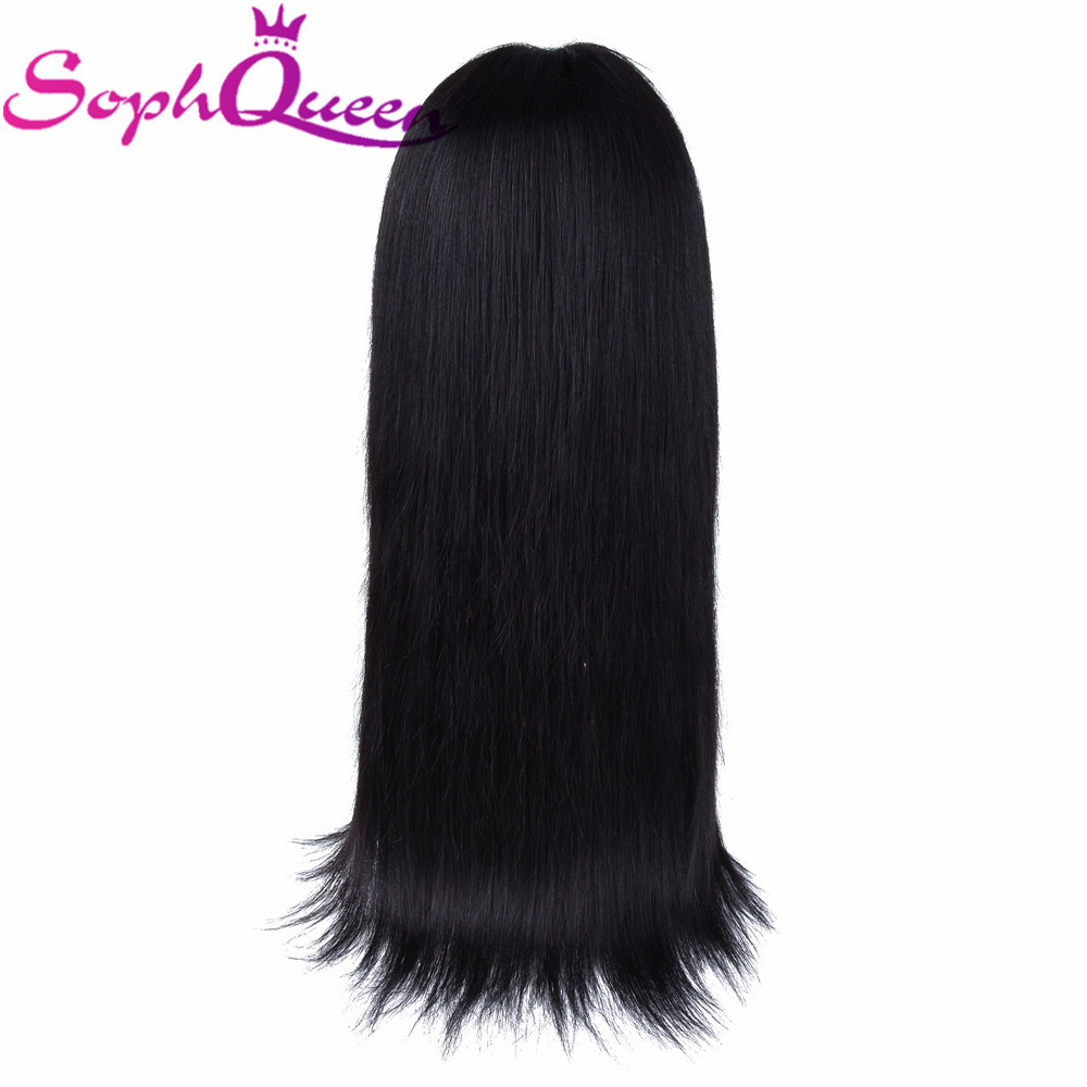 Soph Queen Straight 2 6 Lace Closure Human Hair Wigs For Black Women Peruvian Remy Hair