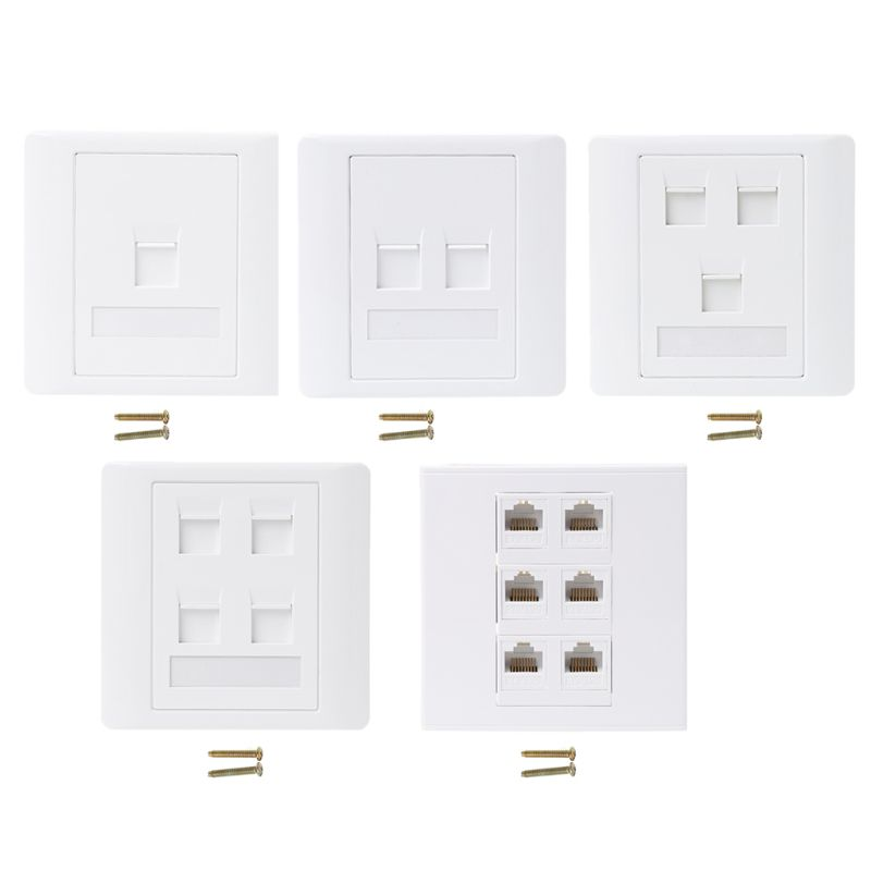 2019 New 86 Type Computer Socket Panel CAT5E Network Module RJ45 Cable Interface Outlet Wall Socket Electrical Equipment