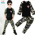 2016 New Camouflage Kids Clothing Set for Boys&Girls Spring&Autumn Cotton Camo Boys Sports Set Girls kids clothes free shipping