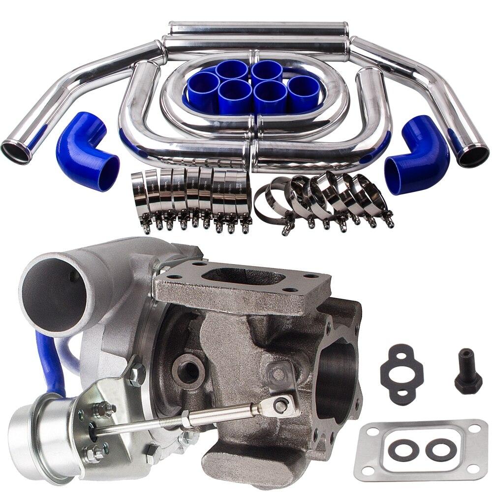 Универсальный T25 T28 GT2871 Turbo + 2,5 64 мм интеркулера Трубы труба синий шланг Наборы