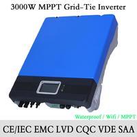 3000W/3KW Solar Power On Grid MPPT Grid Tie Inverter Waterproof IP65 with Wifi, GPRS optional