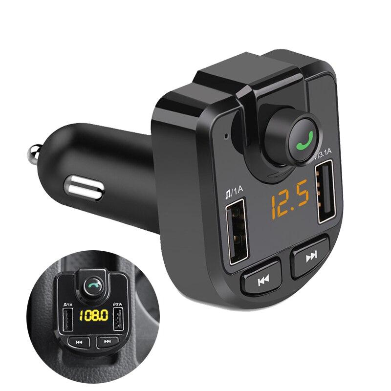 Vivavoce Mp3 Kit Per Auto Bluetooth Fm del Modulatore Del Trasmettitore Del USB Senza Fili Bluetooth Car Audio Caricatore Del Telefono Per Il Iphone Samsung