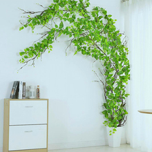 Artificial Ivy Leaf rattan Plant Vine Fake Foliage for Wedding Home Garden Decor DIY Wreath Hanging Garland Faux