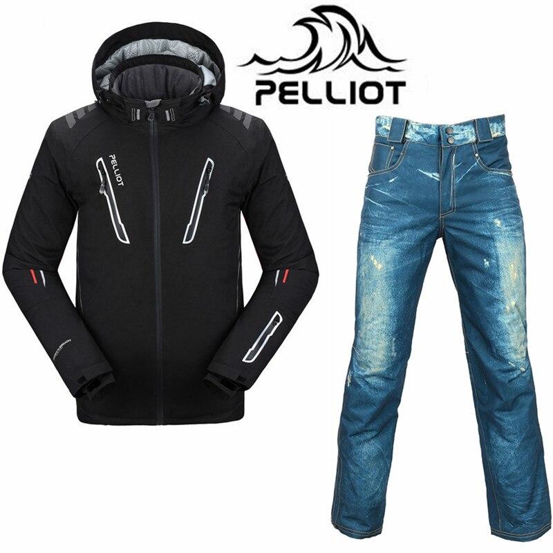 Professionnel Pelliot Ski costume pour homme Étanche Snowboard Veste pantalon de Ski Super Chaud Respirant Snowboard Costumes de Ski En Plein Air