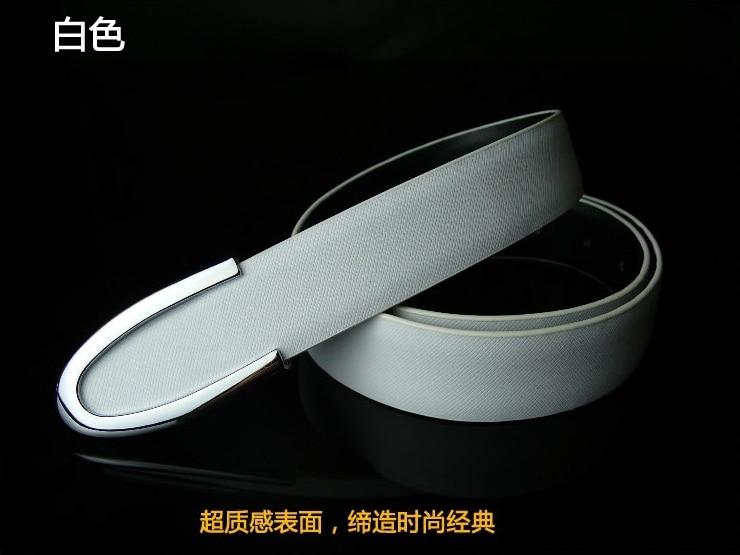 Free Shipping Fashion Metal bullet buckle men's Decoration Genuine leather Belt