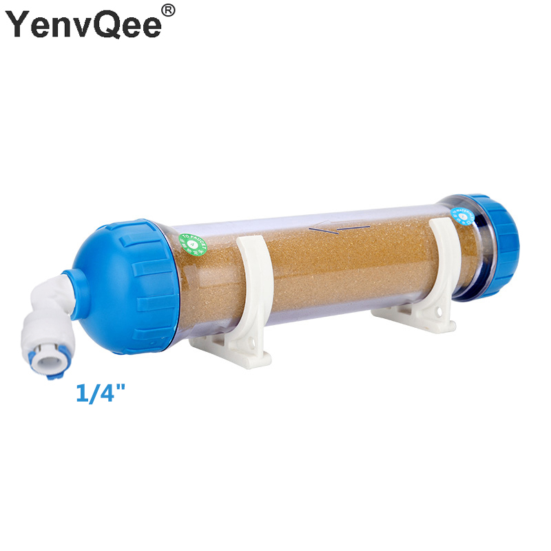 RO Refillable T33 Housing DIY Fill Water Filter Cartridge Filled With Ion Exchange Resin Remove Scal/Softening Water Quality