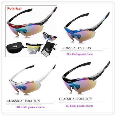 Поляризация Велосипеды солнцезащитные очки с очки для близорукости Спорт на открытом воздухе велосипед оборудование эффективны ветрозащи...