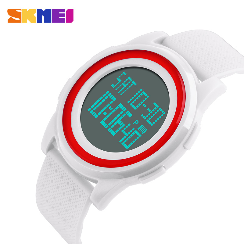 <font><b>SKMEI</b></font> Brand Women Watch Ultrathin Outdoor Waterproof Digital Watches lady student fashion sports multi-function Mens Watches image
