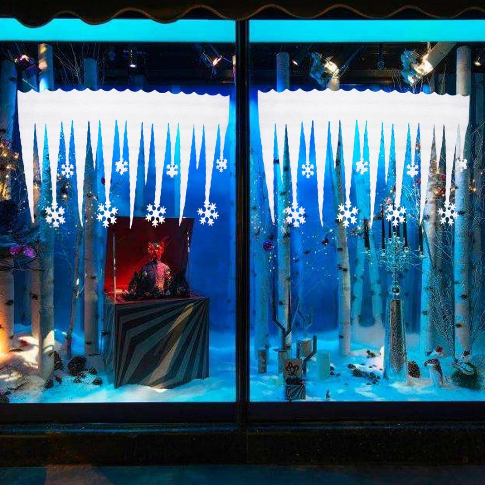 2pcs noël flocon de neige bande de glace décor de noël