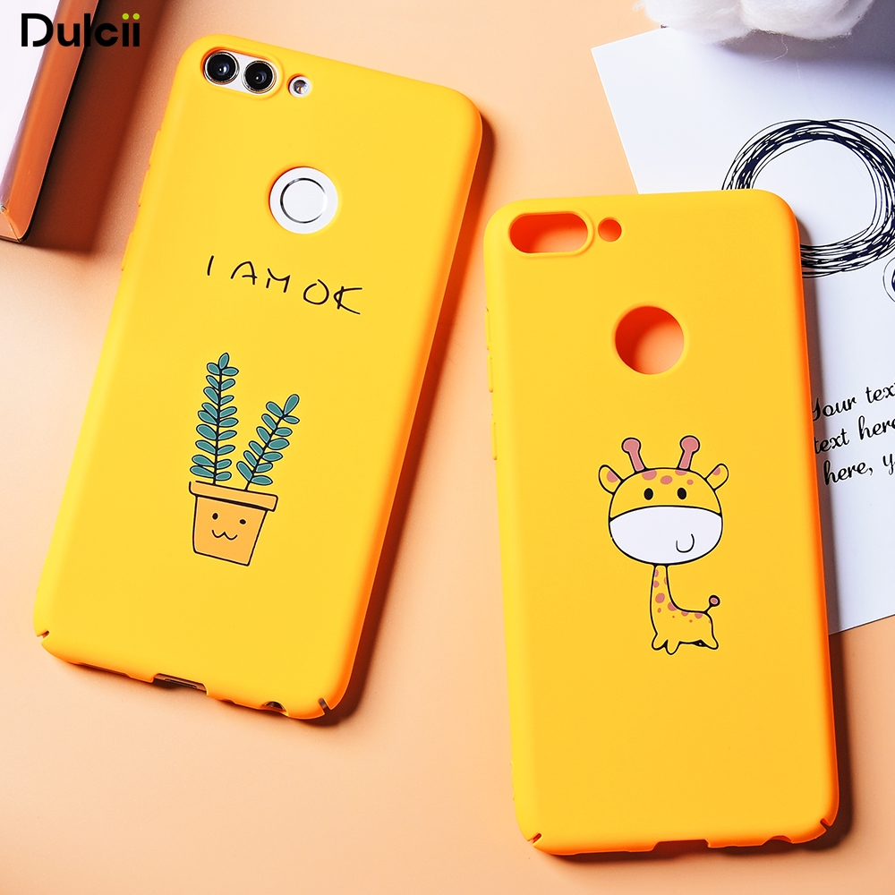 DULCII Cute Cartoon Bag for Huawei Enjoy 7S Cases Pattern Printing Hard Shell Case for H ...